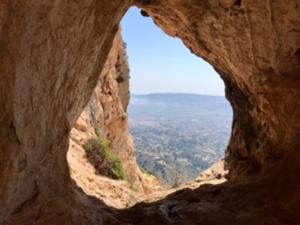 View through the Eye towards Cap Prim